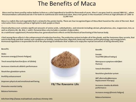The Benefits of MACA!